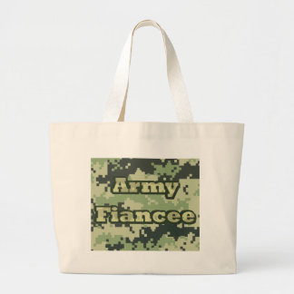Army Fiancee Large Tote Bag