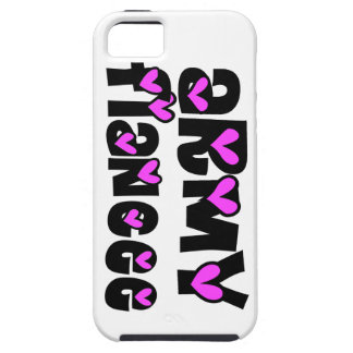 Army Fiancee Pink Hearts iPhone 5 Case