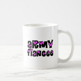 Army Fiancee Pink Hearts Coffee Mug