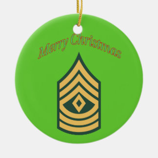 Army First Sergeant Christmas Ornament