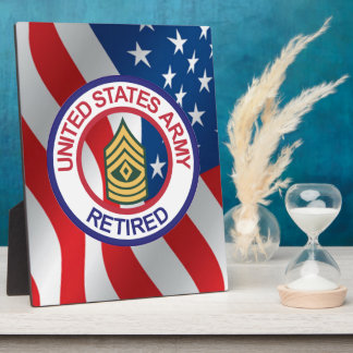 Army First Sergeant Display Plaques