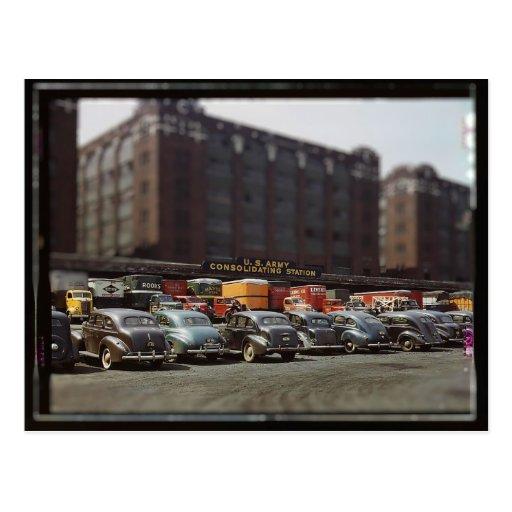 Army Freight Depot Miniature Postcard