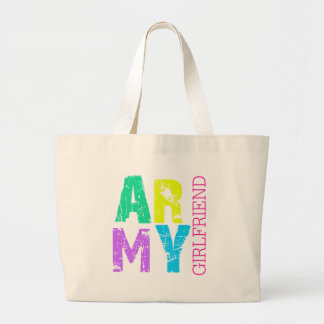 Army Girflfriend Large Tote Bag