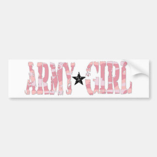 Army Girl Bumper Stickers