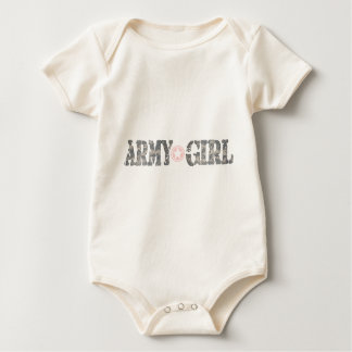 ARmy Girl Camo Baby Bodysuit
