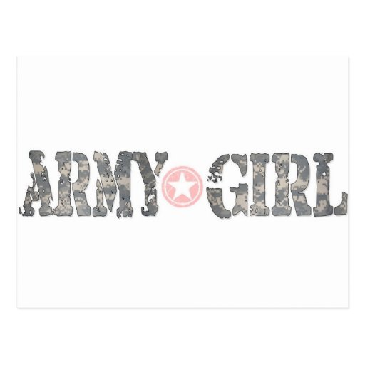 ARmy Girl Camo Postcard