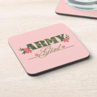 Army Girl Drink Coaster