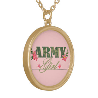 Army Girl Gold Plated Necklace