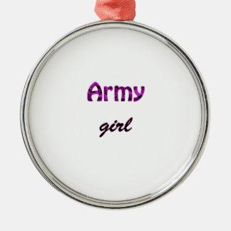 Army Girl Metal Ornament