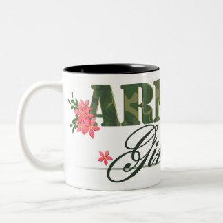Army Girl Two-Tone Coffee Mug