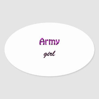 Army Girl Oval Sticker
