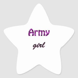 Army Girl Star Sticker