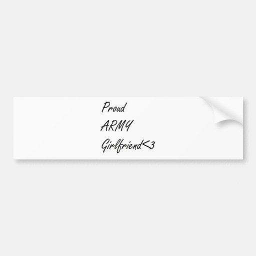 Army Girlfriend Car Bumper Sticker