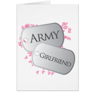 Army Girlfriend Dog Tags Card