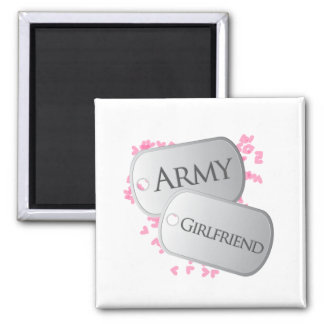 Army Girlfriend Dog Tags Magnet