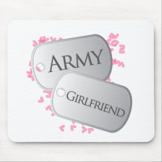 Army Girlfriend Dog Tags Mouse Pad