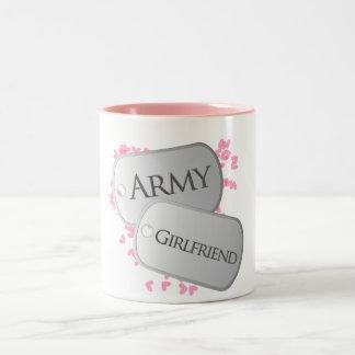 Army Girlfriend Dog Tags Mugs