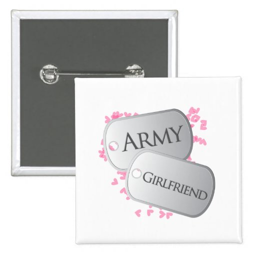 Army Girlfriend Dog Tags Pins