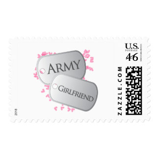 Army Girlfriend Dog Tags Stamps