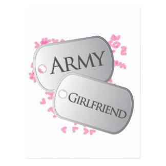 Army Girlfriend Dog Tags Postcard