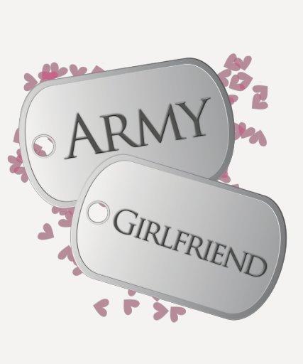 Army Girlfriend Dog Tags Tshirts