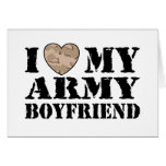 Army Girlfriend Greeting Card