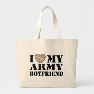 Army Girlfriend Large Tote Bag