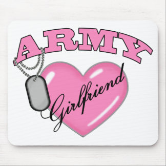 Army Girlfriend Pink Heart N Dog Tag Mouse Pad