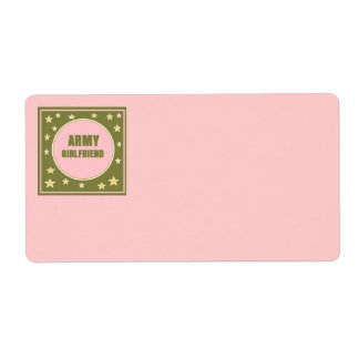 ARMY GIRLFRIEND SHIPPING Label