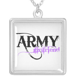 Army Girlfriend Square Pendant Necklace