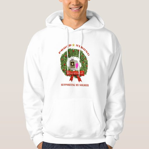 Army Girlfriend Support Holiday Hoodie