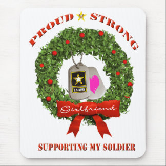 Army Girlfriend Support Holiday Mousepad