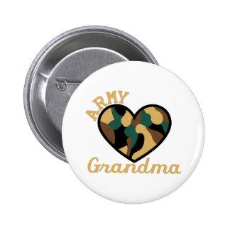Army Grandma Button