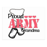 Army Grandma Hearts Postcard