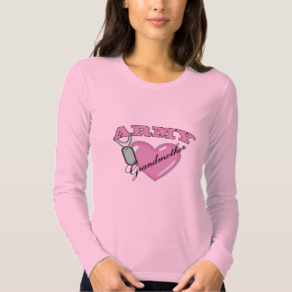 Army Grandmother Heart N Dog Tag T-shirt