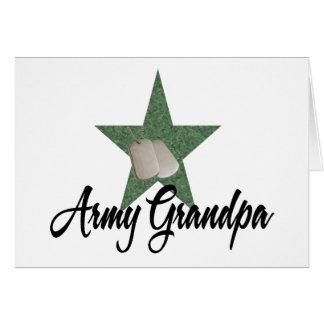 Army Grandpa Greeting Card