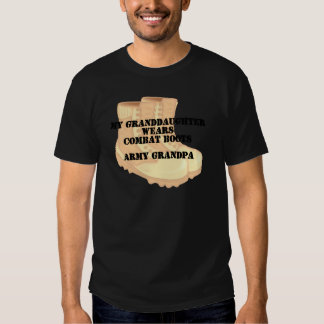 Army Grandpa Granddaughter Desert Combat Boots T-shirts