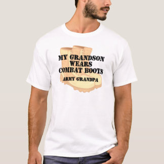 Army Grandpa Grandson Desert Combat Boots T-Shirt