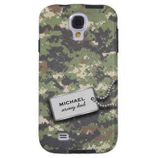 Army Green and Black Digital Camouflage Galaxy S4 Case
