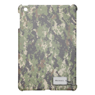 Army Green and Brown Digital Military Camouflage iPad Mini Cover