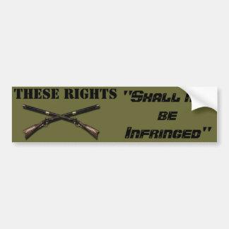"""Army Green Bumper Sticker - 2nd Amnd-""""Shallnotbe.."""