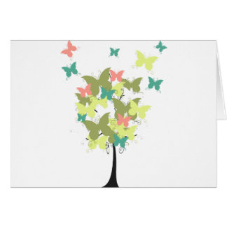 Army Green Butterfly Tree Card