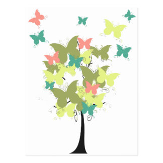 Army Green Butterfly Tree Postcard
