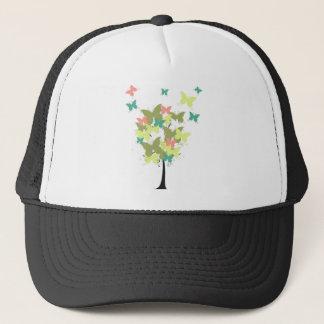 Army Green Butterfly Tree Trucker Hat
