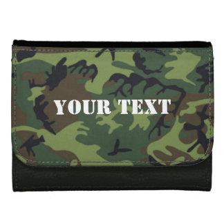 Army green camo wallet