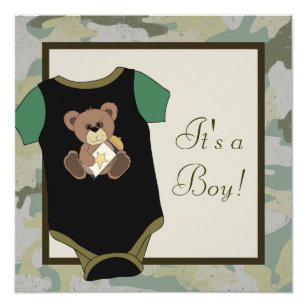 Army baby invitations zazzle army green camouflage baby boy shower invitations filmwisefo