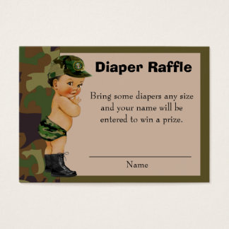 Green camouflage business cards templates zazzle army green camouflage diaper raffle insert colourmoves
