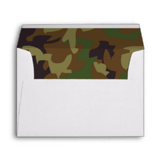 Army Green Camouflage Lined Envelope