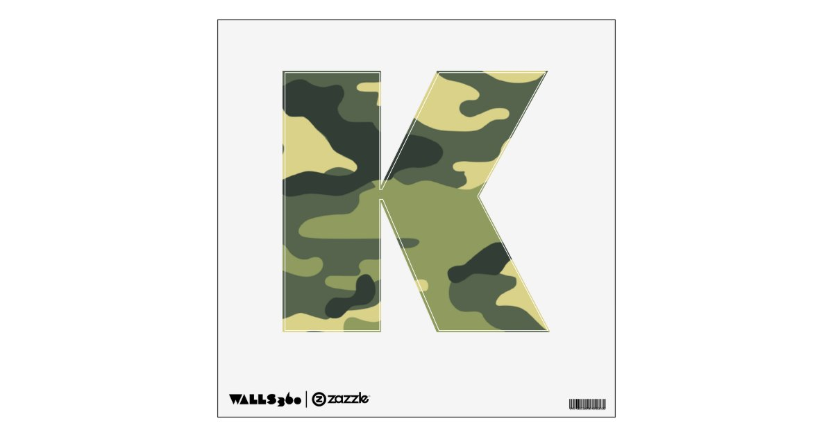 Army green camouflage wall decals your letter zazzle for Camouflage wall mural