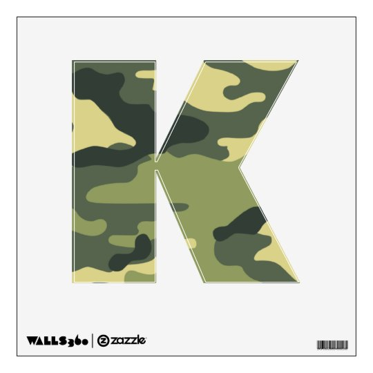 Army Green Camouflage Wall Decals YOUR LETTER  sc 1 st  Zazzle & Army Green Camouflage Wall Decals YOUR LETTER | Zazzle.com